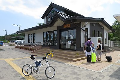 大湊線・下北駅(DAHON DASH X20)