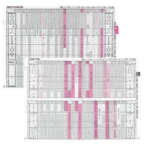地鉄時刻表の本文