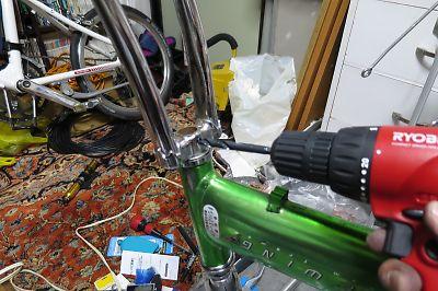 パナ製ライトウイング/キャリパーブレーキの取り付け