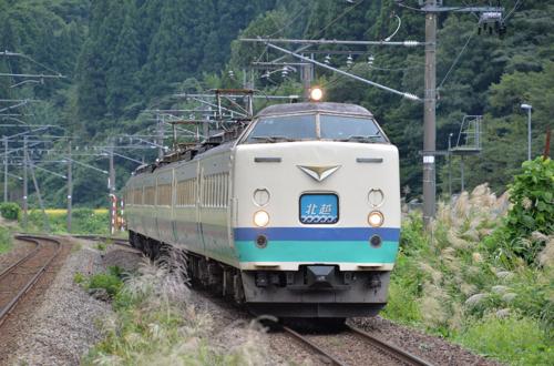 特急北越4号(長鳥駅/2014.9.15)