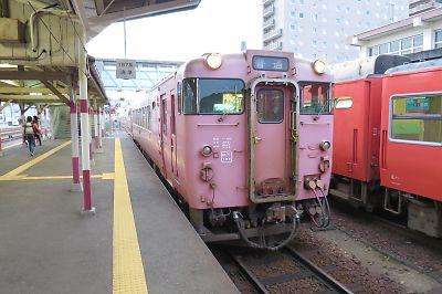 山口線キハ40(益田駅)