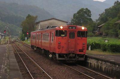 山口線キハ47(日原駅)