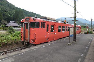 山口線キハ40(三谷駅)