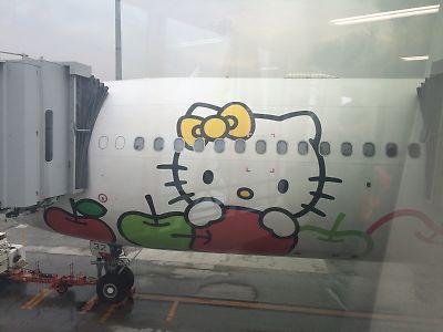 エバー航空のハローキティジェット