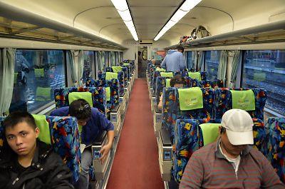 観光列車車内(台湾)