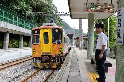 タブレット式閉塞(台湾・三貂嶺駅)