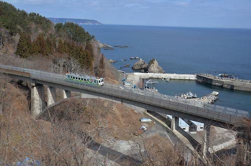 三陸鉄道・北リアス線(堀内-白井海岸)