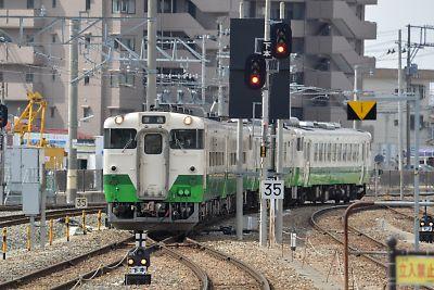 キハ40系連/石巻線・石巻駅