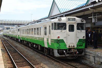 キハ40系4連/石巻線・石巻駅