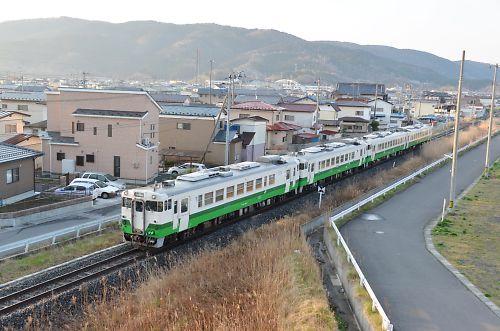石巻線キハ40・48の4連(回送)