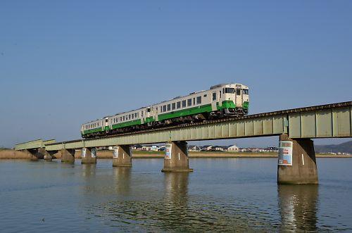 石巻線キハ40の3連(石巻-陸前稲井)
