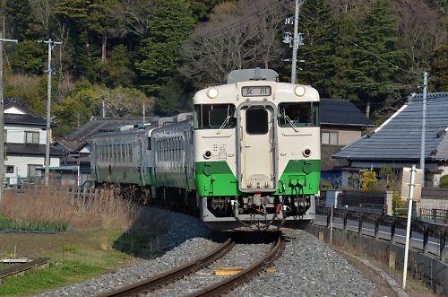 石巻線キハ40の3連(浦宿-沢田)