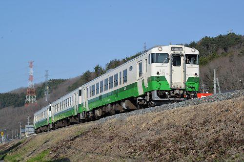 1623Dはキハ40・3連(沢田-女川)