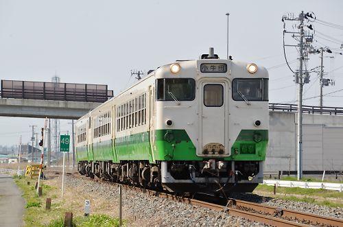 石巻線キハ40・キハ48の3連(曽波神-石巻/H27.4.19)
