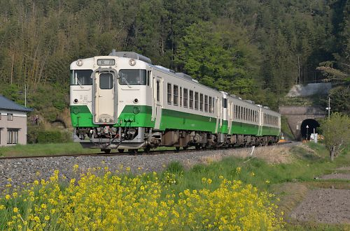 石巻線キハ48・40の3連(前谷地-涌谷)