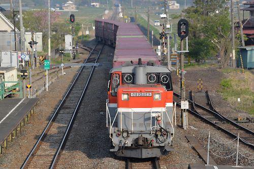 石巻線貨物列車1651レ(前谷地)