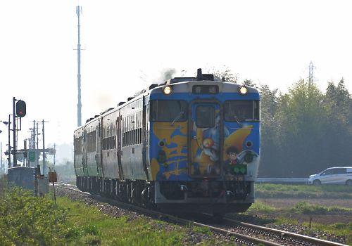 陸羽東線のキハ40・48の4連(陸前谷地-北浦)