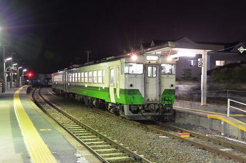 石巻線キハ48(渡波駅)