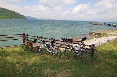 猪苗代湖と雄国パノラマラインby DAHON DASH X20