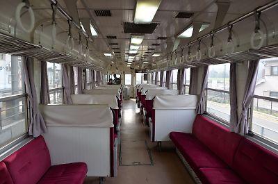 北条鉄道2000-3号車内