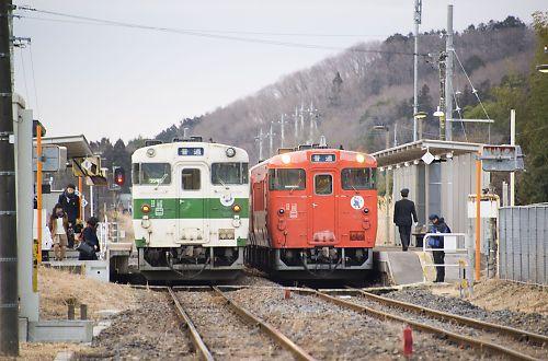 烏山線キハ40形3両編成