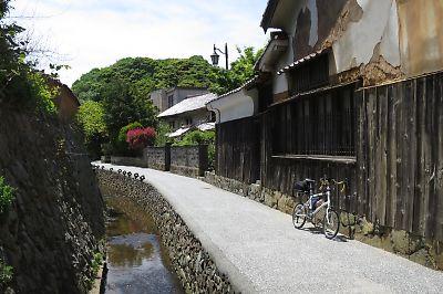江津本町の古い町並み