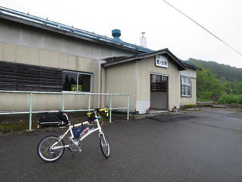石勝線夕張支線の駅めぐりツーリング(鹿ノ谷駅)