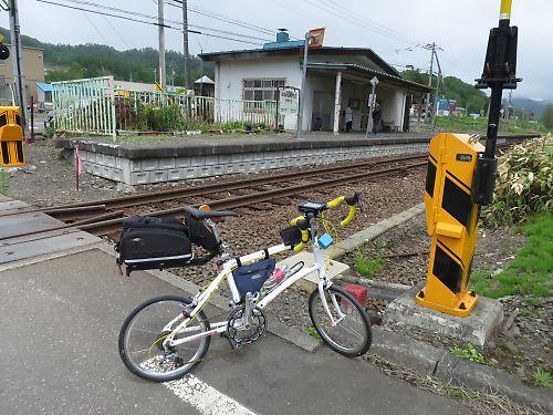 石勝線夕張支線の駅めぐりツーリング(南清水沢駅)
