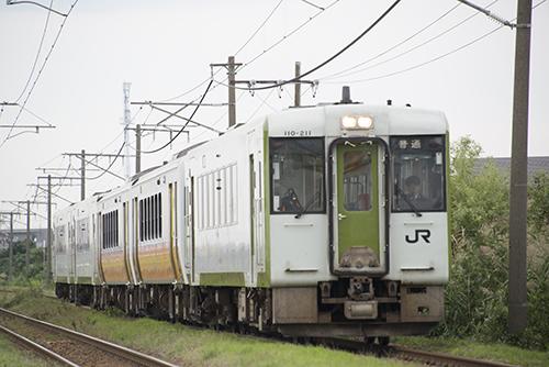 信越線2524Dキハ110/12・5連(荻川―亀田)