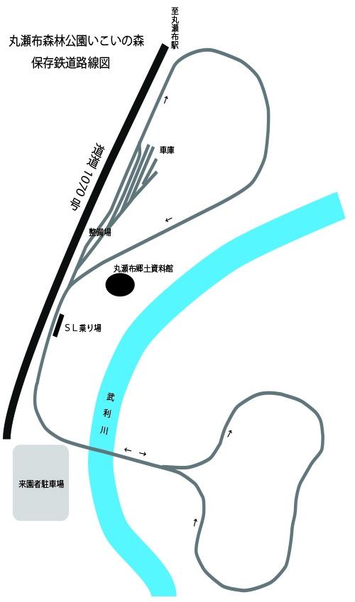 丸瀬布森林公園・雨宮21号線路図