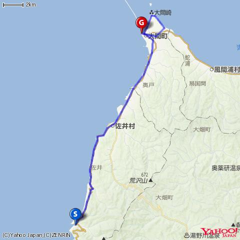 下北半島・海峡ラインを走る(その2/福浦→大間)by DAHON DASH X20