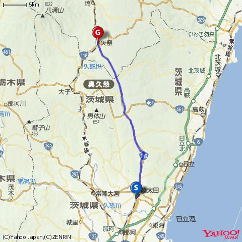 国道349号明神峠(常陸太田駅→東舘駅)by輪行