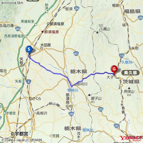 境明神峠・栃木茨城県境ツーリング(野崎→常陸大子)