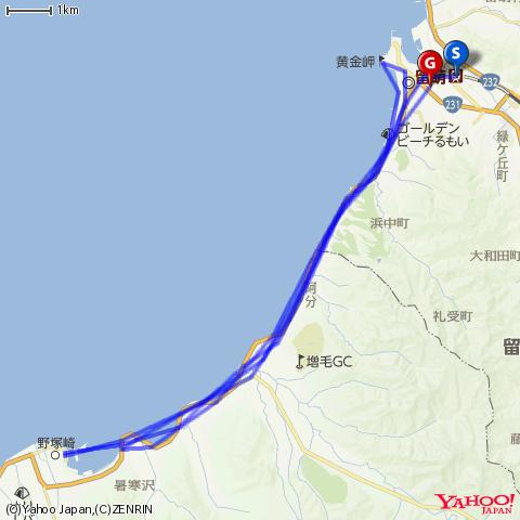 留萌本線廃止区間(留萌-増毛間)の駅巡り by 自転車