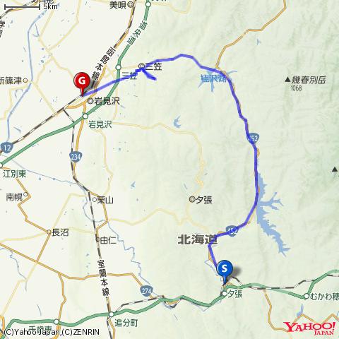 国道452号シューパロ湖越え(新夕張→岩見沢)