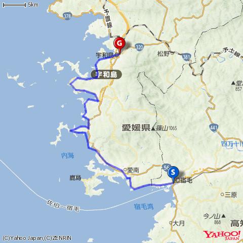 豊後水道・半島めぐりツーリング(宿毛→宇和島)