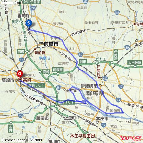 桃ノ木川自転車道・伊勢崎・高崎自転車道を走ってみる