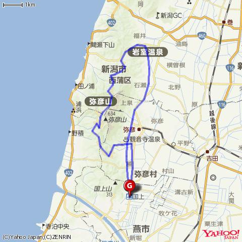 弥彦山ヒルクライム by DAHON DASH X20