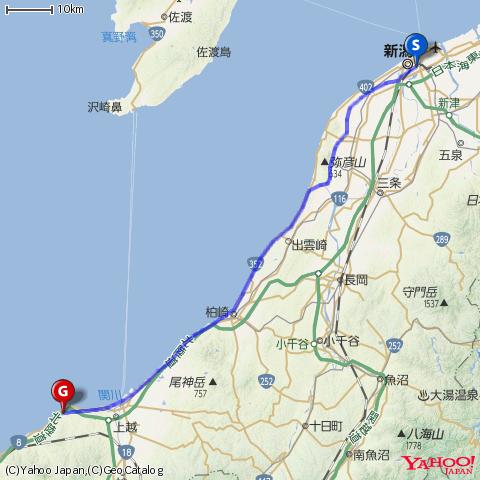 新潟・名立 日本海ツーリングby DAHON DASH X20
